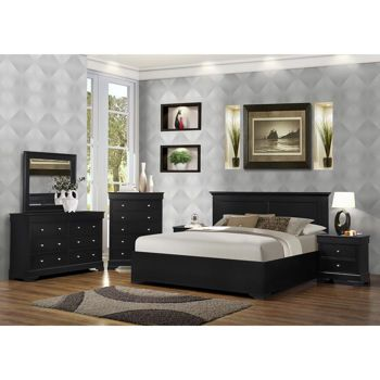 Shelby 6 Piece King Bedroom Set In Black King Bedroom Sets Bedroom Sets Queen Bedroom Set