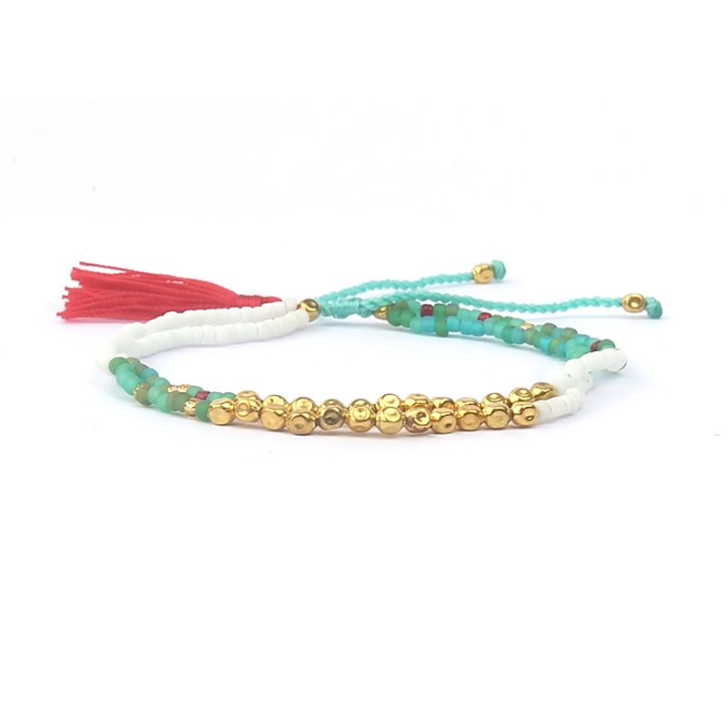 Whole Price 100 Designs Friendship Bracelets Natural Stone Bracelet Colorful Tel Summer Style Jewelry Best Friends