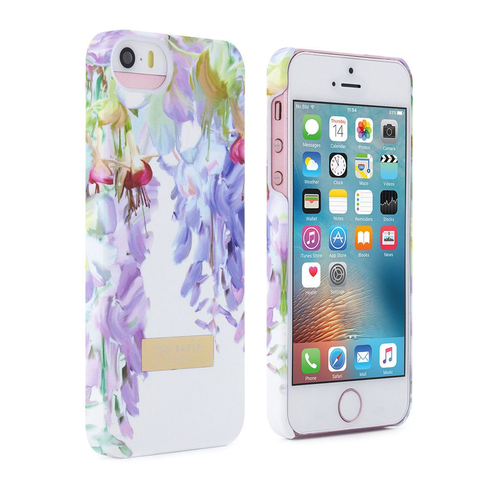 23afb6285cdf Official Ted Baker Ss16 Back Case Cover For Apple Iphone 5   5S Hanging  Gardens