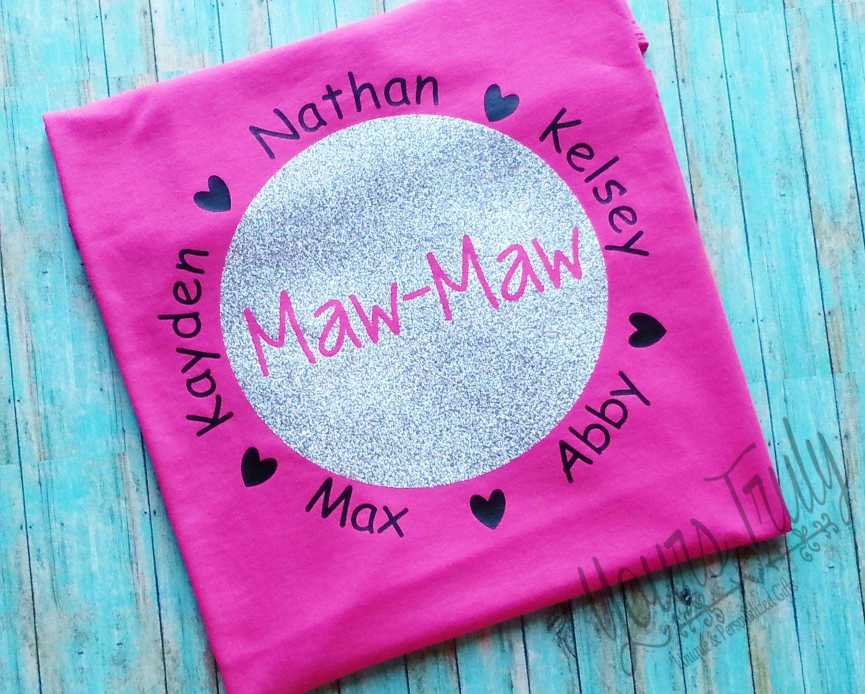 Grandmother S T Shirt Maw Maw Personalize Shirt Grand