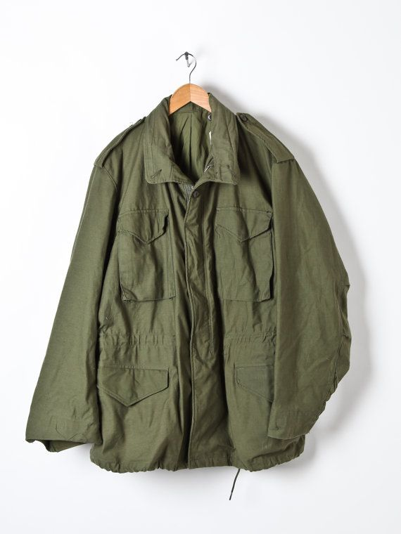 eb9a35bf889 Vintage Mens M65 Olive Green US Army Field Jacket