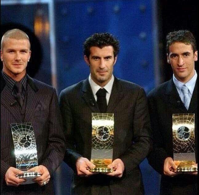 Leyendas. Beckham, Figo y Raúl.