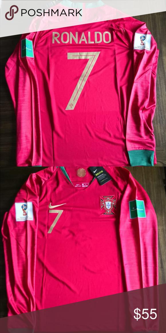 new arrival 2e690 4039c Portugal home jersey Ronaldo Long Sleeves Ronaldo Long ...