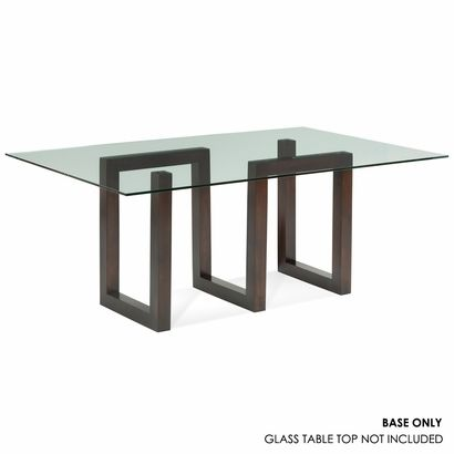 Serpent Rectangular Glass Top Dining Table Dining Table Bases