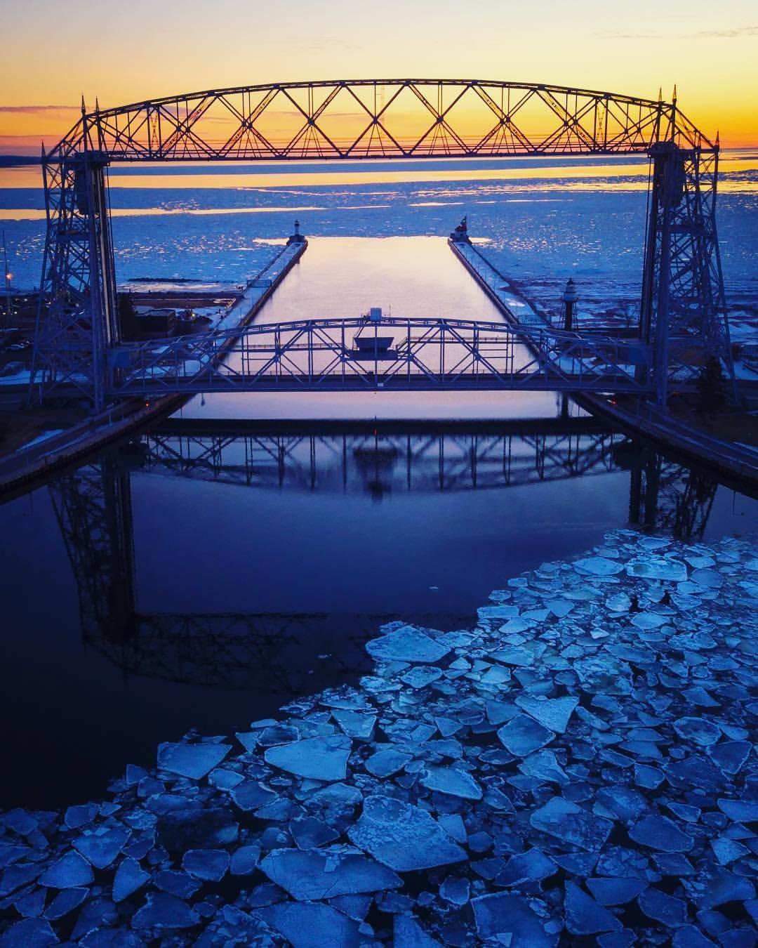 Aerial Lift Bridge Duluth Mn By Drone Minnesota Photography North Shore Minnesota Minnesota Travel