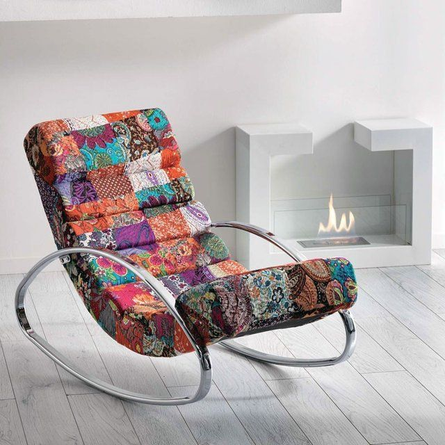 best service ac34e 65574 Patchwork Rocking Chair | Interior Design in 2019 | Rocking ...