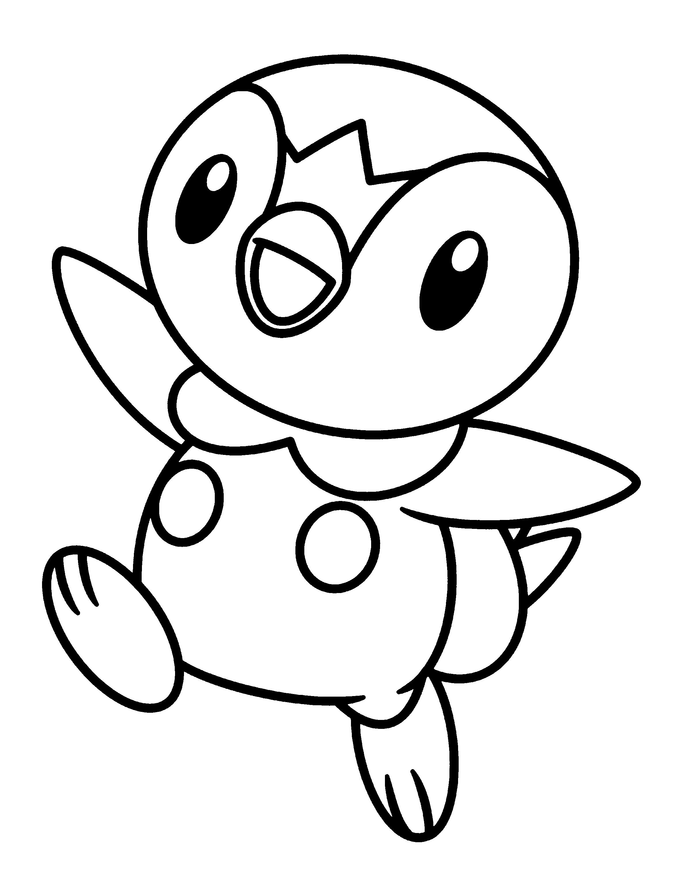 Pokemon Coloring Pages Piplup