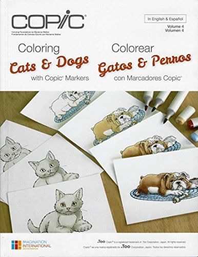 Copic Marker CBCATS N//A Copic Books-Coloring Cats /& Dogs