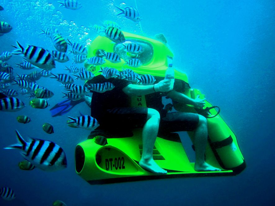 Underwater Tandem Scooter Ride