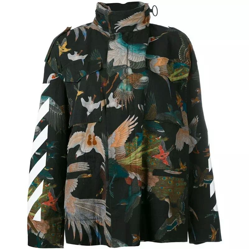 22b408d145bb4 Indie Designs Birds Stamp All Over Print M65 Jacket in 2019   Men's ...