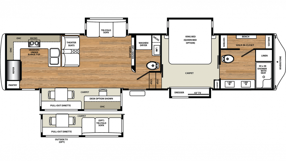 Pin by Eric Gregg on Luxury Fifth Wheel Floor Plans   Rv ...