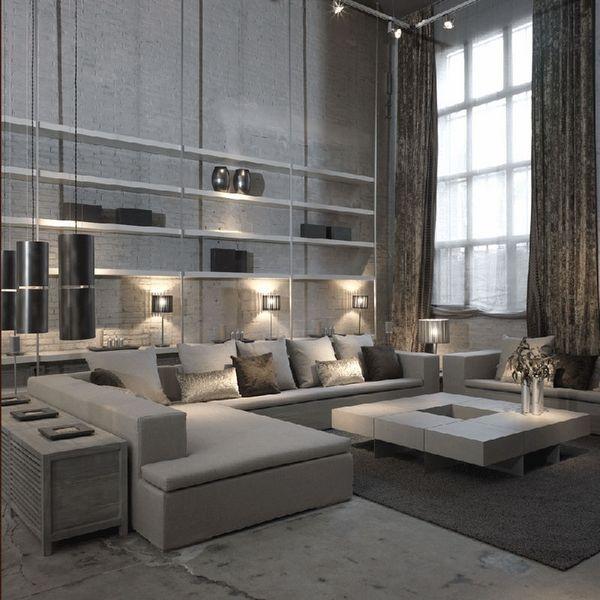 Outstanding Gray Living Room Designs Contemporary Apartment Interior Ideas  Modern Home Design