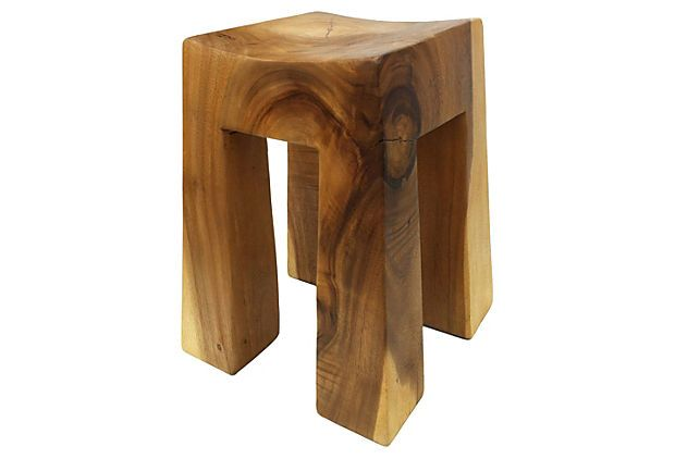Brilliant Square Stool On Onekingslane Com Movel Madeira Natural Caraccident5 Cool Chair Designs And Ideas Caraccident5Info
