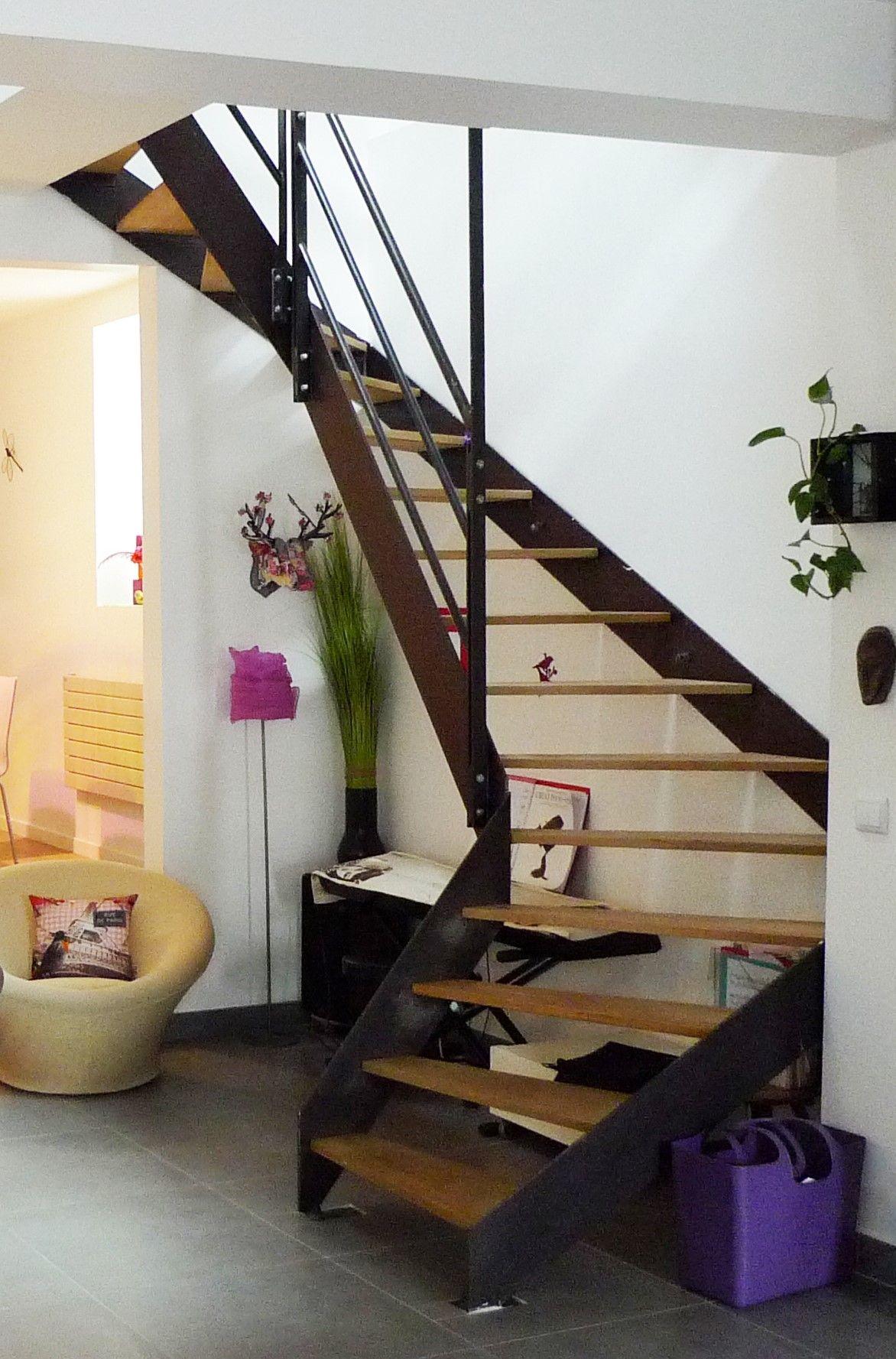 Escalier Metal Bois Sans Contremarche Skalopatia Pinterest