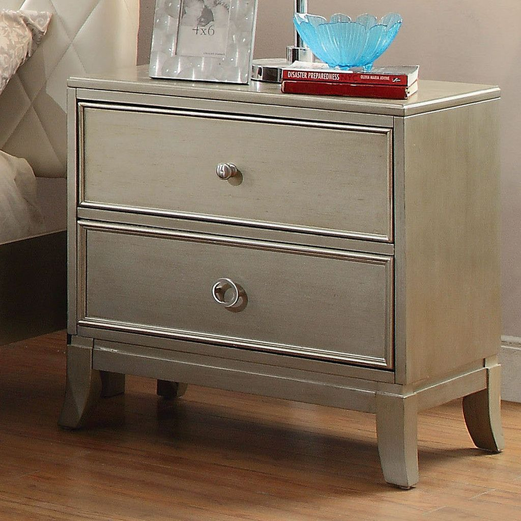 Erion 2 Drawer Nightstand