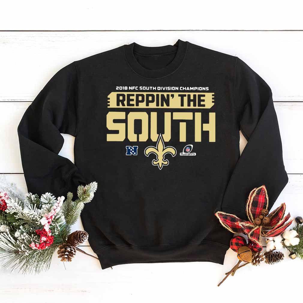 7a32acab139 Reppin The South Saints shirt | Ugly Xmas T-shirts | Saints shirts ...