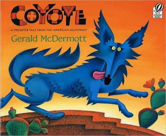 Coyote by Gerald McDermott. A native American folktale of how blue coyote turns gray.