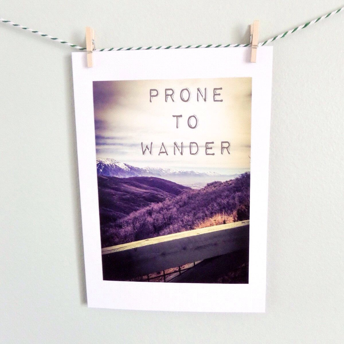 Prone To Wander Yes I Am Blank 5x7 Greeting Card Etsy Shop