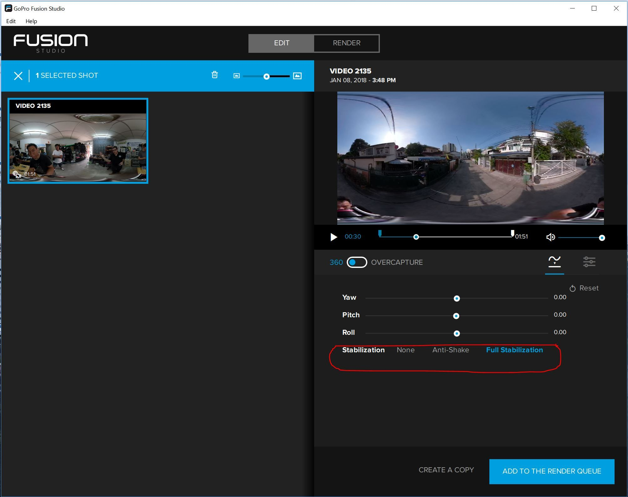 GoPro Fusion Series: GoPro Fusion Studio Now Truly Delivers