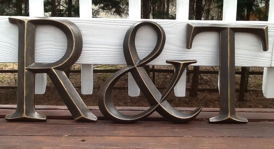 Large Bronze Letters Oil Rubbed Bronze Large Initials And Ampersand Wall Letters You
