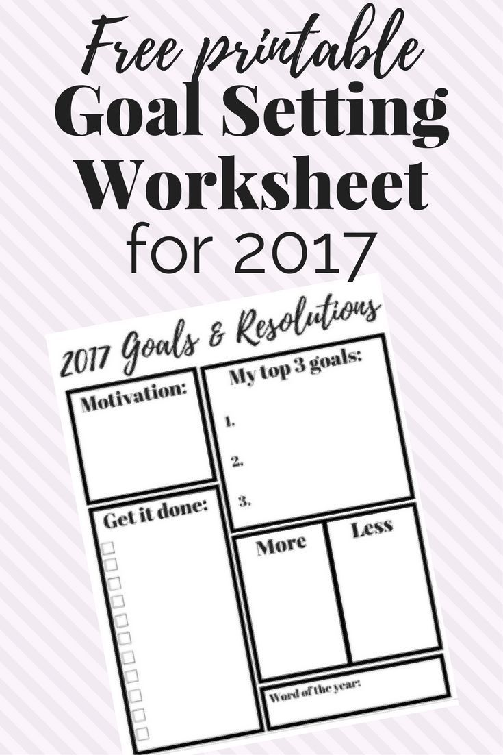 a free printable goal setting worksheet for the new year this will help you set goals stay motivated and stay on track