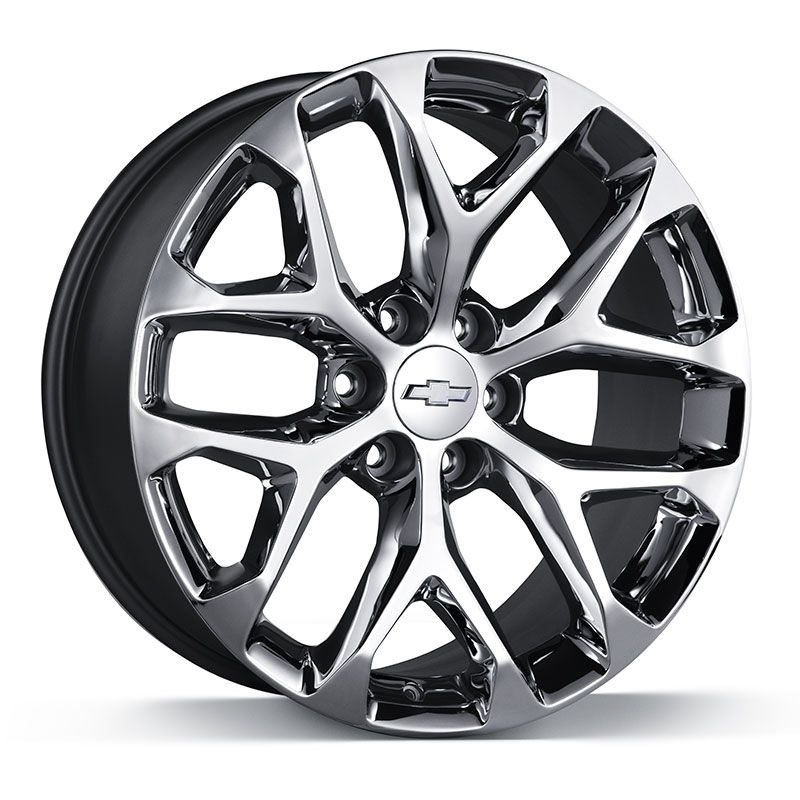 2019 Silverado 1500 22 Inch 6 Split Spoke Chrome Wheels By