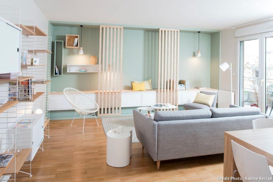 le style scandinave dans un appartement lyonnais salon. Black Bedroom Furniture Sets. Home Design Ideas