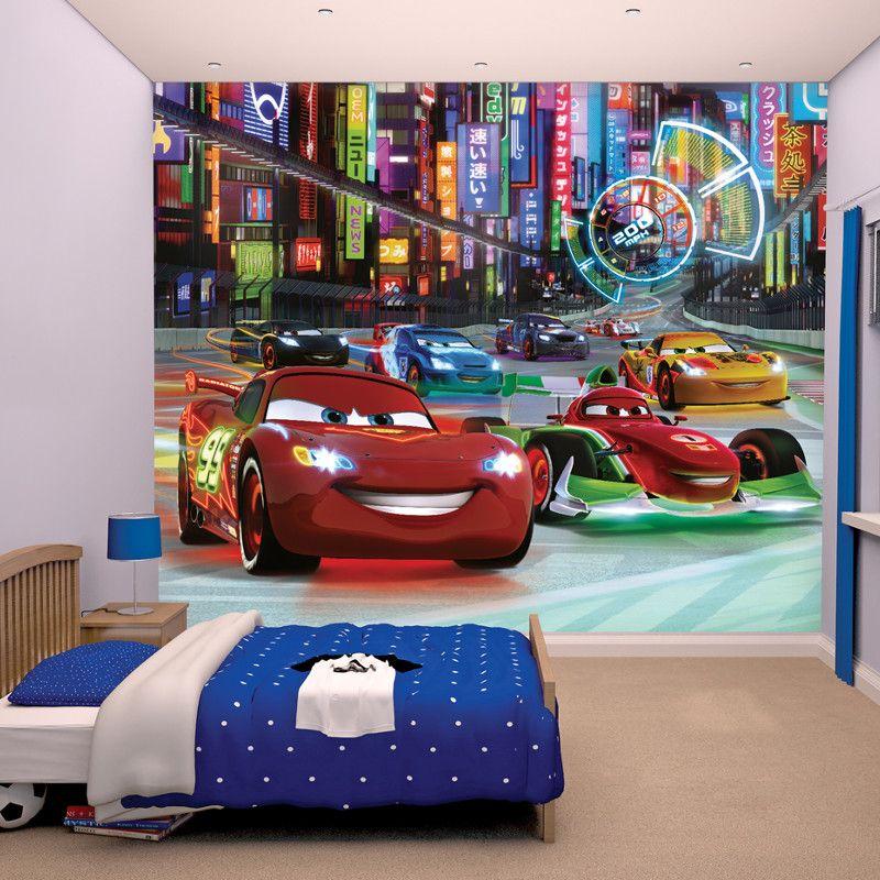 Kids room wall mural WALLPAPER Disney Cars 3 World boy/'s bedroom photo decor