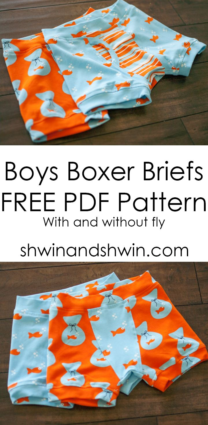 Boys Boxer Briefs || Free PDF Pattern || Shwin&Shwin | sewing boy ...