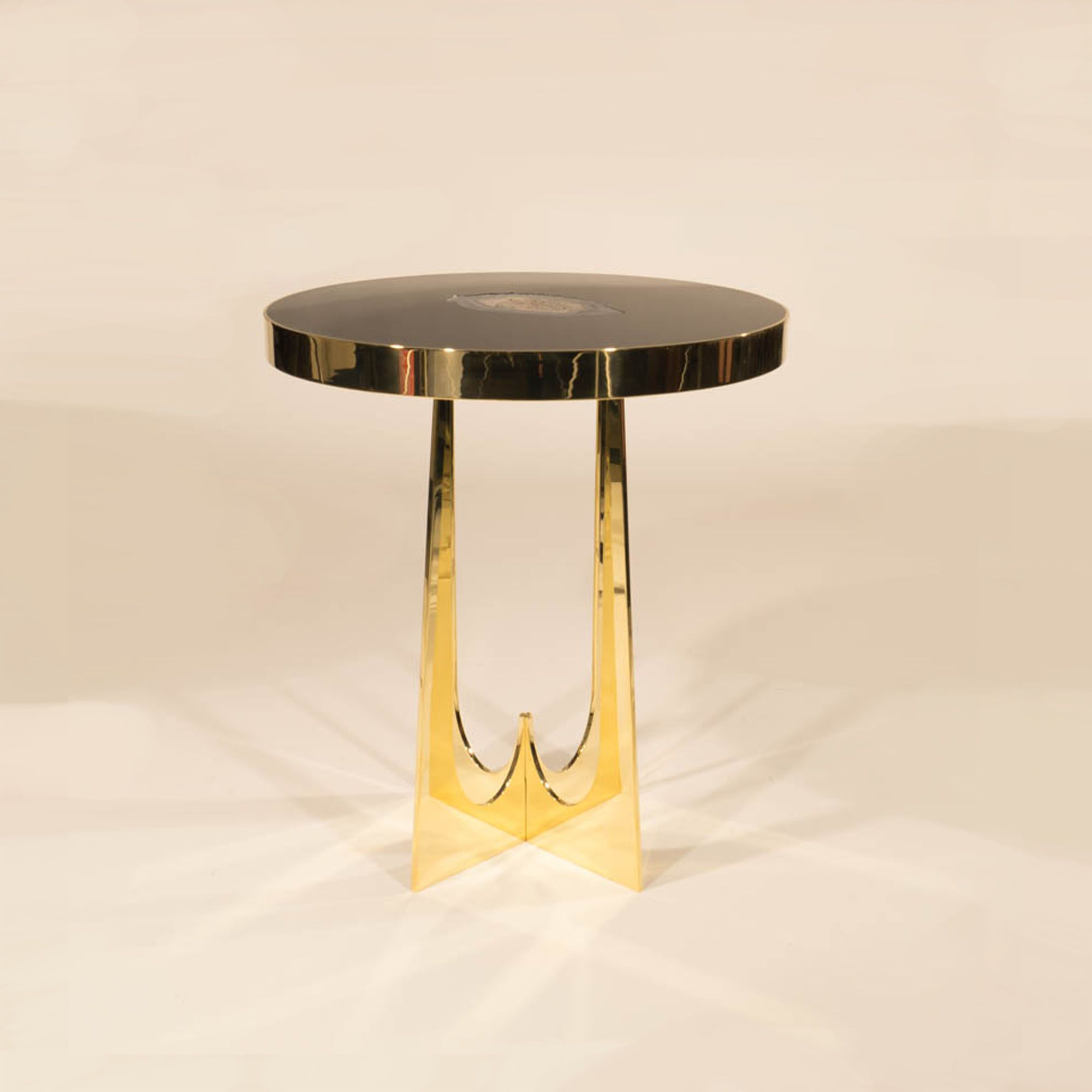 Superior Brass And Resin Side Table By Thomas Adam Hebb