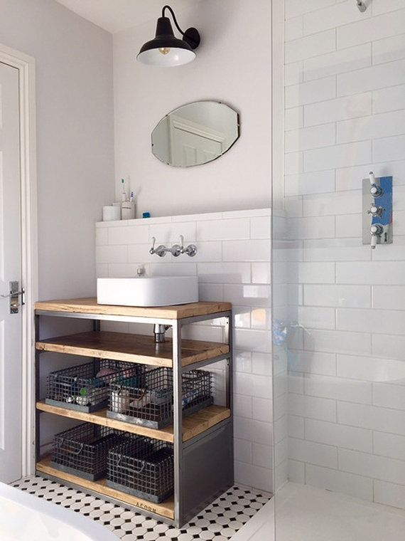 Industrial Style Bathroom Basin Cabinet Industrial Style