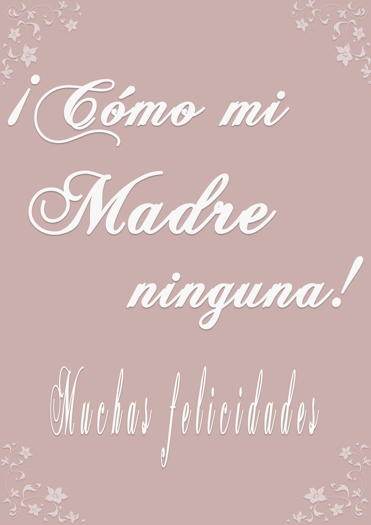 Tarjeta Día de la Madre-mother's day card #diadelamadre, #mother'sday