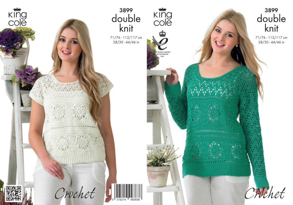 King Cole Giza Dk Sweater And Top Crochet Pattern 3899 Tops