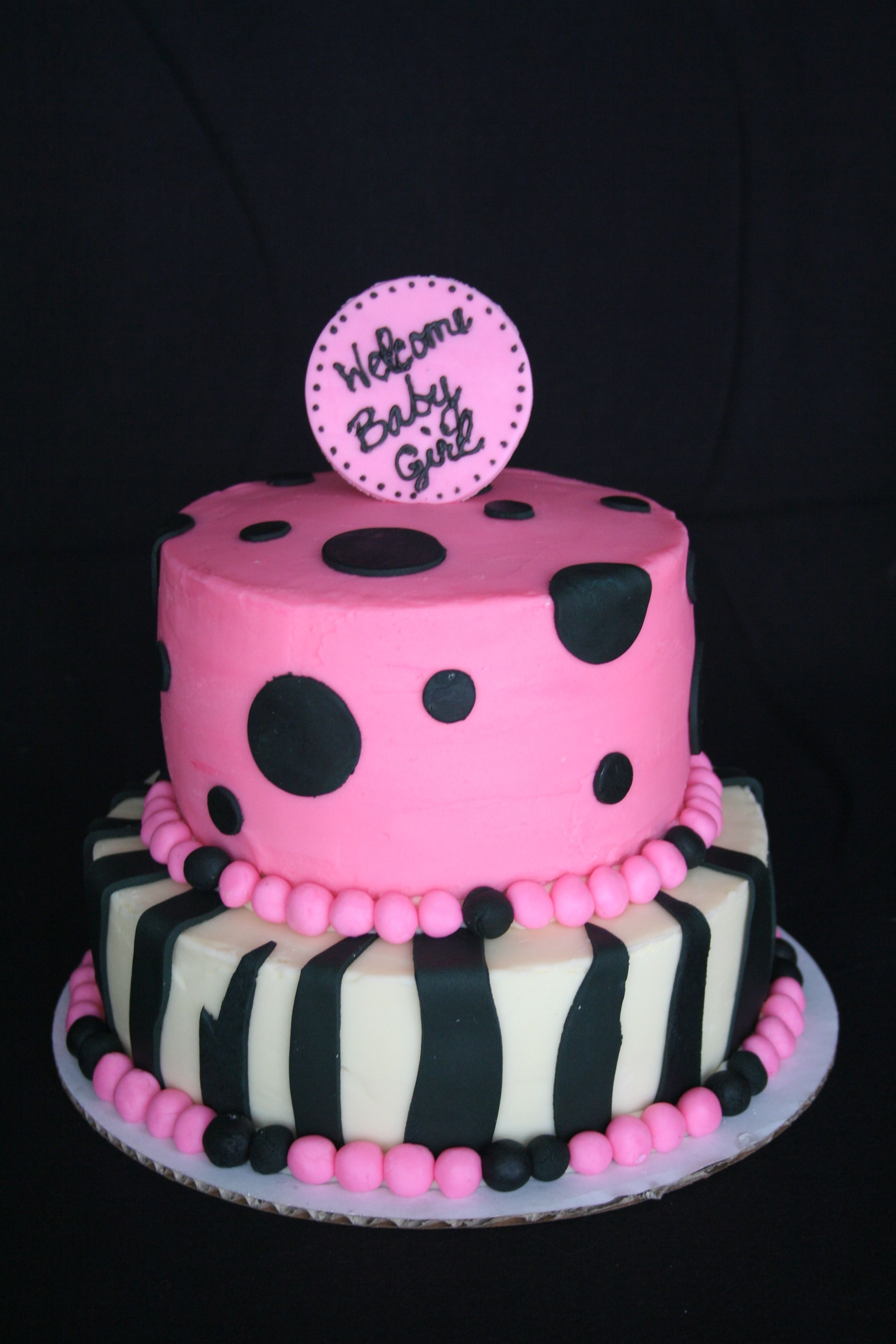 Zebra print baby shower cake For when I have a baby Pinterest