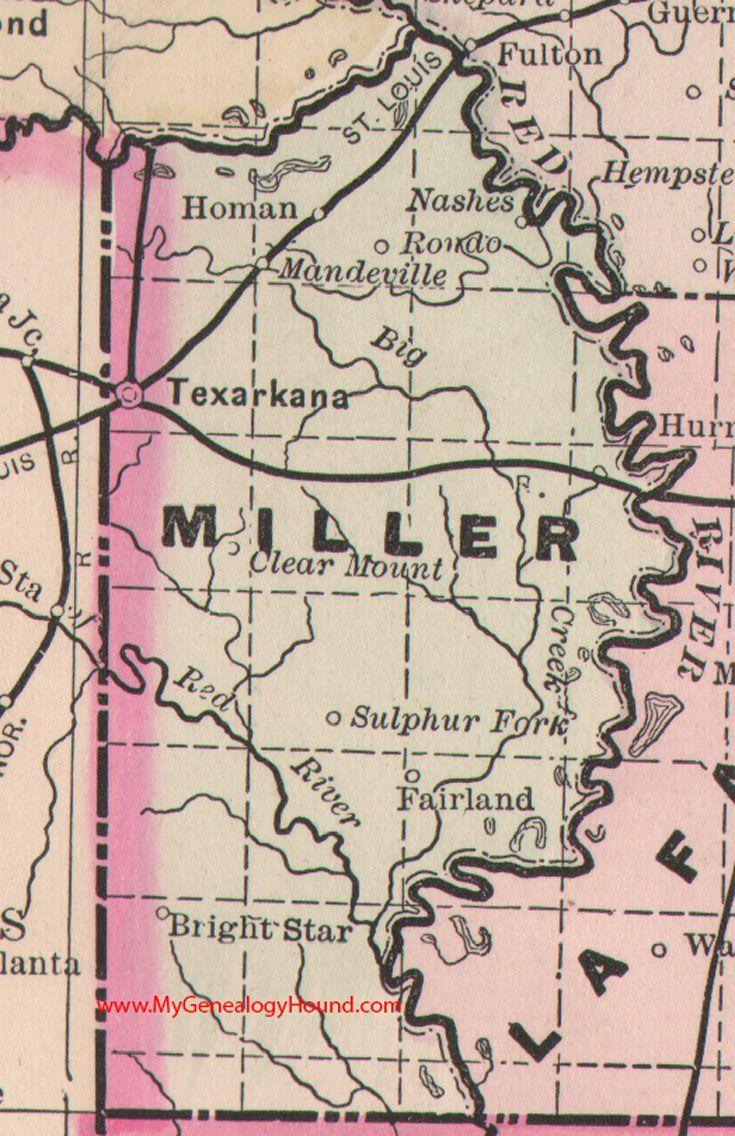 Miller county arkansas map 1889 texarkana homan nashes rondo miller county arkansas map 1889 texarkana homan nashes rondo mandeville publicscrutiny Choice Image