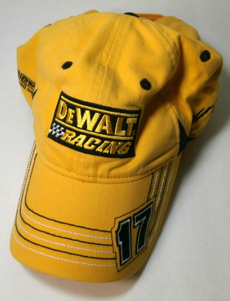 24405d9d15a4c Matt Kenseth 17 Dewalt Racing Cap Nascar Roush Yellow Black Chase  Authentics  ChaseAuthentics  RoushFenwayRacing