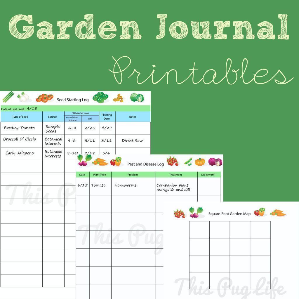 Garden Journal Free Printable Seed Starting And Pest And Disease Log And Square Foot Garden Ma Gardening Journal Printables Garden Journal Gardening Printables