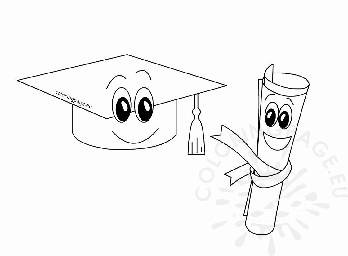 Graduation Cap Coloring Page Fresh 33 Graduation Cap Coloring Page