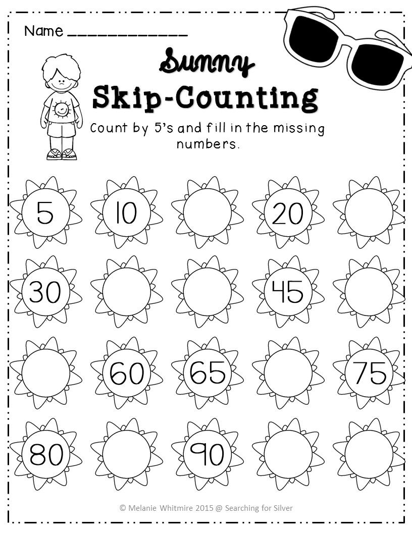 Summer Math & Literacy Printables {Kindergarten