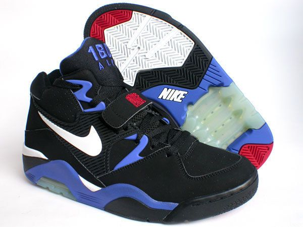 eee03e0aebd1f2 Nike Air Force 180 - Black White Blue Red - Charles Barkley