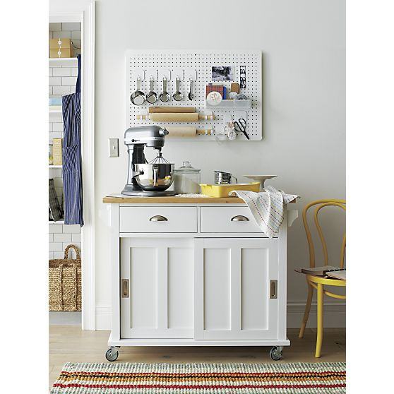 Belmont White Kitchen Island In Kitchen Islands Carts Crate And