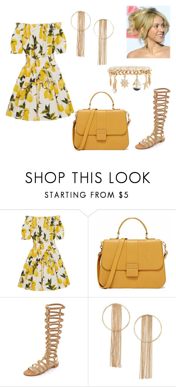 """263."" by kwiatuszek13 ❤ liked on Polyvore featuring Dolce&Gabbana, Stuart Weitzman, Forever 21, women's clothing, women, female, woman, misses and juniors"