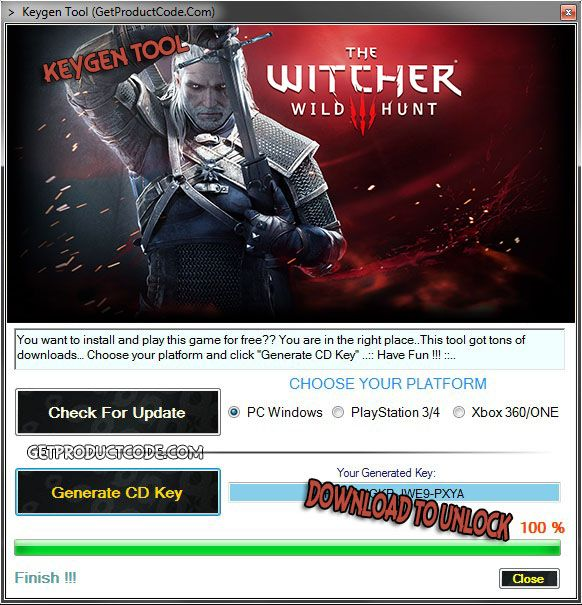 The Witcher 3 Wild Hunt CD Key Generator The Witcher 3: Wild Hunt is