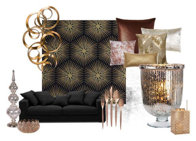 copper by bridgetcfitz-1 on Polyvore featuring interior, interiors, interior design, home, home decor, interior decorating, Zoffany, Eastern Accents, Aviva Stanoff and BoConcept