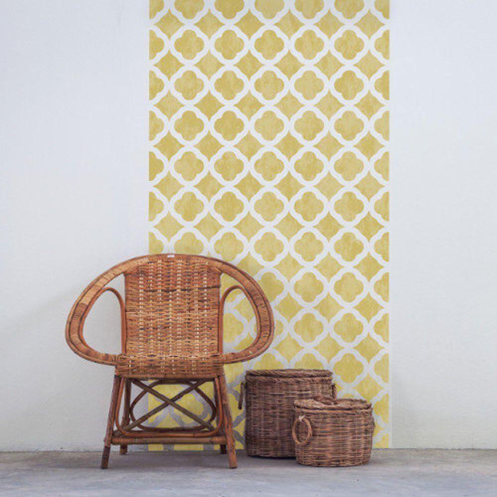 ALHAMBRA Moroccan Wall/Furniture Stencil – Moroccan quatrefoil tile ...
