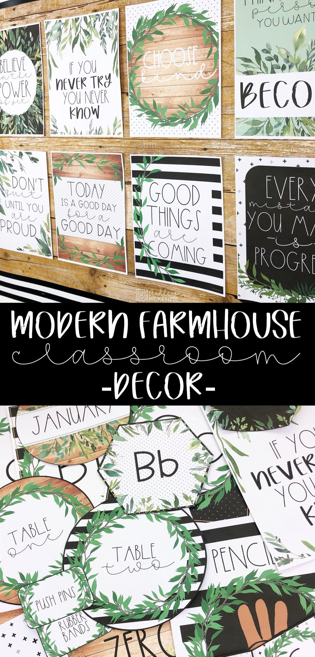 Farmhouse Themed Classroom Decor Ideas #classroomdecor