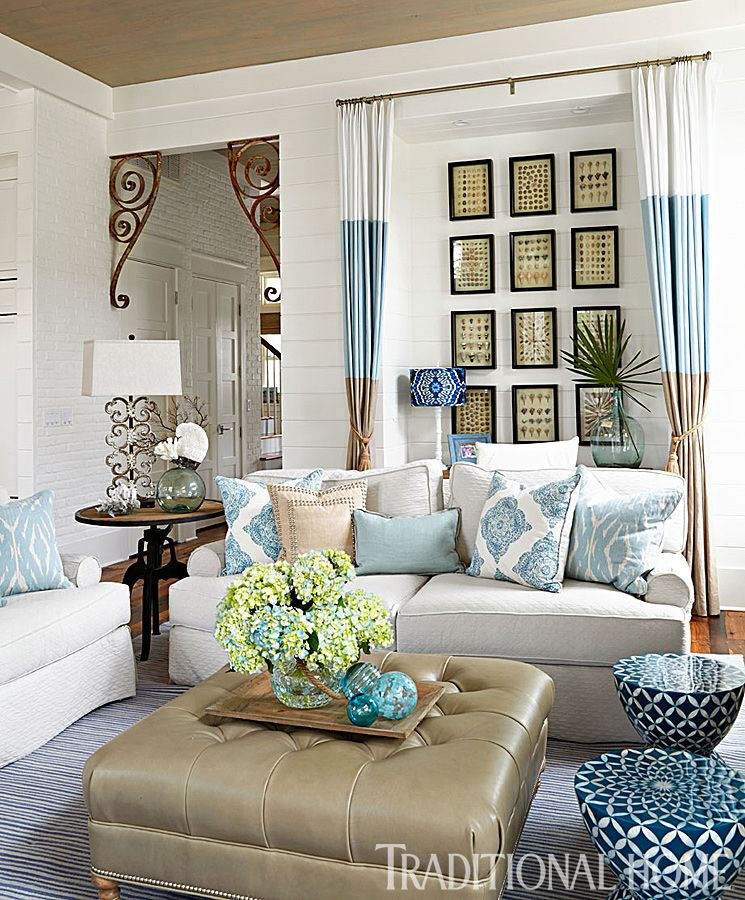 Spacious Living Room: Spacious Home With Seaside Palette