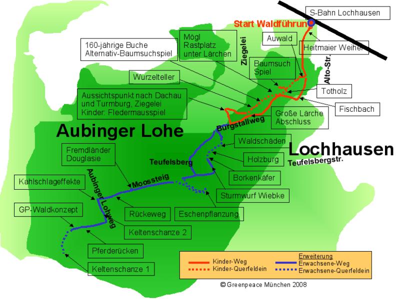 Waldspaziergang in der Aubinger Lohe | Douglasie, Fledermaus