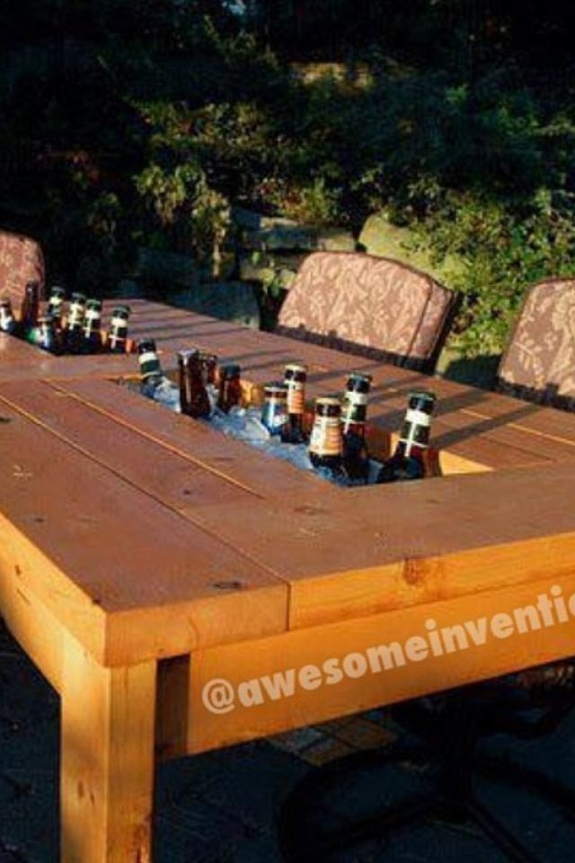 cool patio table for the home pinterest patio table patios rh pinterest com Patio Table Ideas Patio Table and Chairs