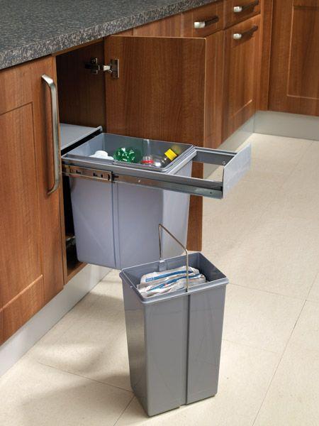 pull out waste bin for 300mm unit custom made kitchens. Black Bedroom Furniture Sets. Home Design Ideas